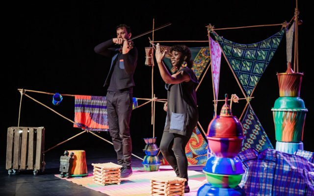 Taama, jeune public, guimbarde, violon, théâtre, voyage, burkina faso, enfance, Eden, centre culturel de Charleroi © Roots and Shoot