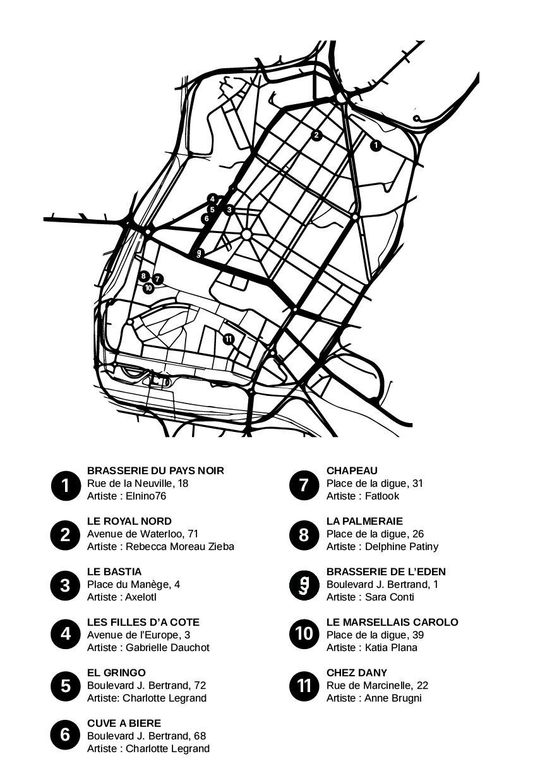 Carte, parcours, Eclats de Noël, Eden, Centre culturel de Charleroi